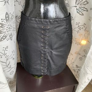 BlankNYC Faux leather mini shirt Size 26